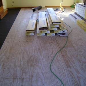 Harwood Flooring Instalation Before